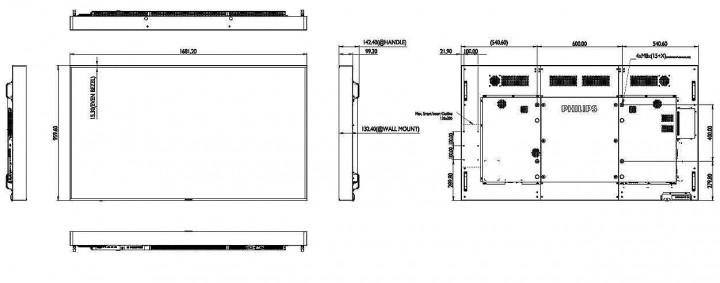 philips 75 zoll high brightness monitor monitoring. Black Bedroom Furniture Sets. Home Design Ideas