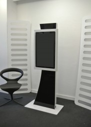 Touchscreen Stele schwarz weiß - DEMO