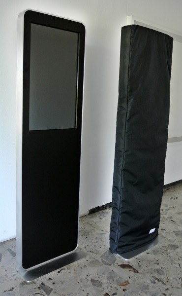 stele mit 32 zoll monitor demo touchscreen. Black Bedroom Furniture Sets. Home Design Ideas