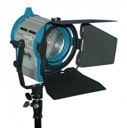 Studio Scheinwerfer Stufenlinse mit Torblende 650Watt mit Dimmer