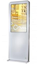 Design Stele mit 55 Zoll Touchscreen