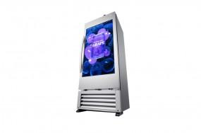 Kühlschrank mit transparentem Video Display