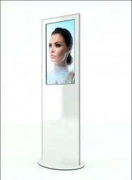 Werbestele mit 32 Zoll Display