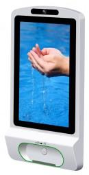 Berührungsfreier Desinfektions- und Hygienemittelspender mit multimedialen Funktionen
